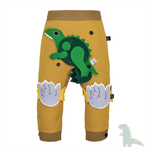 DINO SET - Trousers duo colori - Mustardino