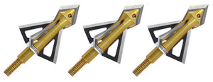 3 PACK | 100 Grain Triple Whammy Broadhead with Extra Main Blade