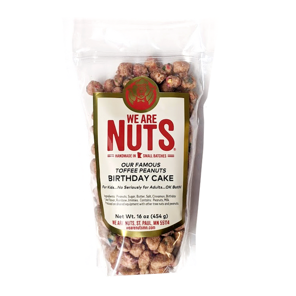 Birthday Cake Toffee Peanuts (16 oz)-Nuts-We Are Nuts!