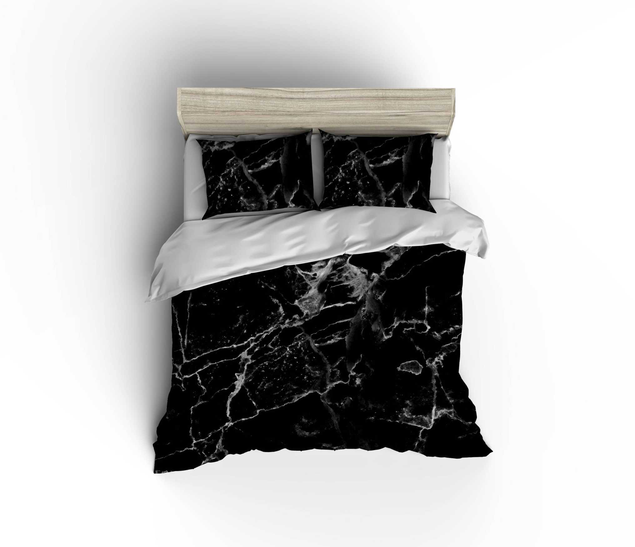 Black Marble Bedding Duvet Days End Designs