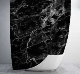 Black Marble Shower Curtain Shower Curtain Days End Designs Standard 70x70