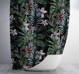 Dark Tropical Pattern Shower Curtain Shower Curtain Days End Designs Standard 70x70
