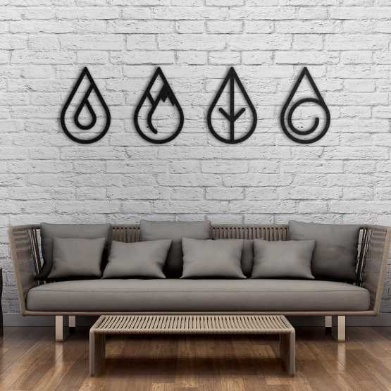 Four Elements Metal Wall Art Wall Art Northshire Wall Art
