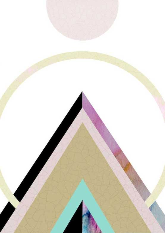 Geometric Mountain Wall Art Print Wall Art SennaMi