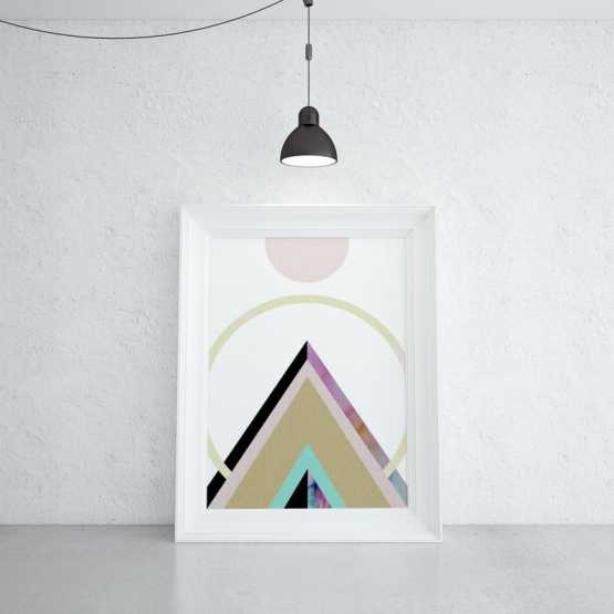 Geometric Mountain Wall Art Print Wall Art SennaMi 5x7 inches [$9.35]