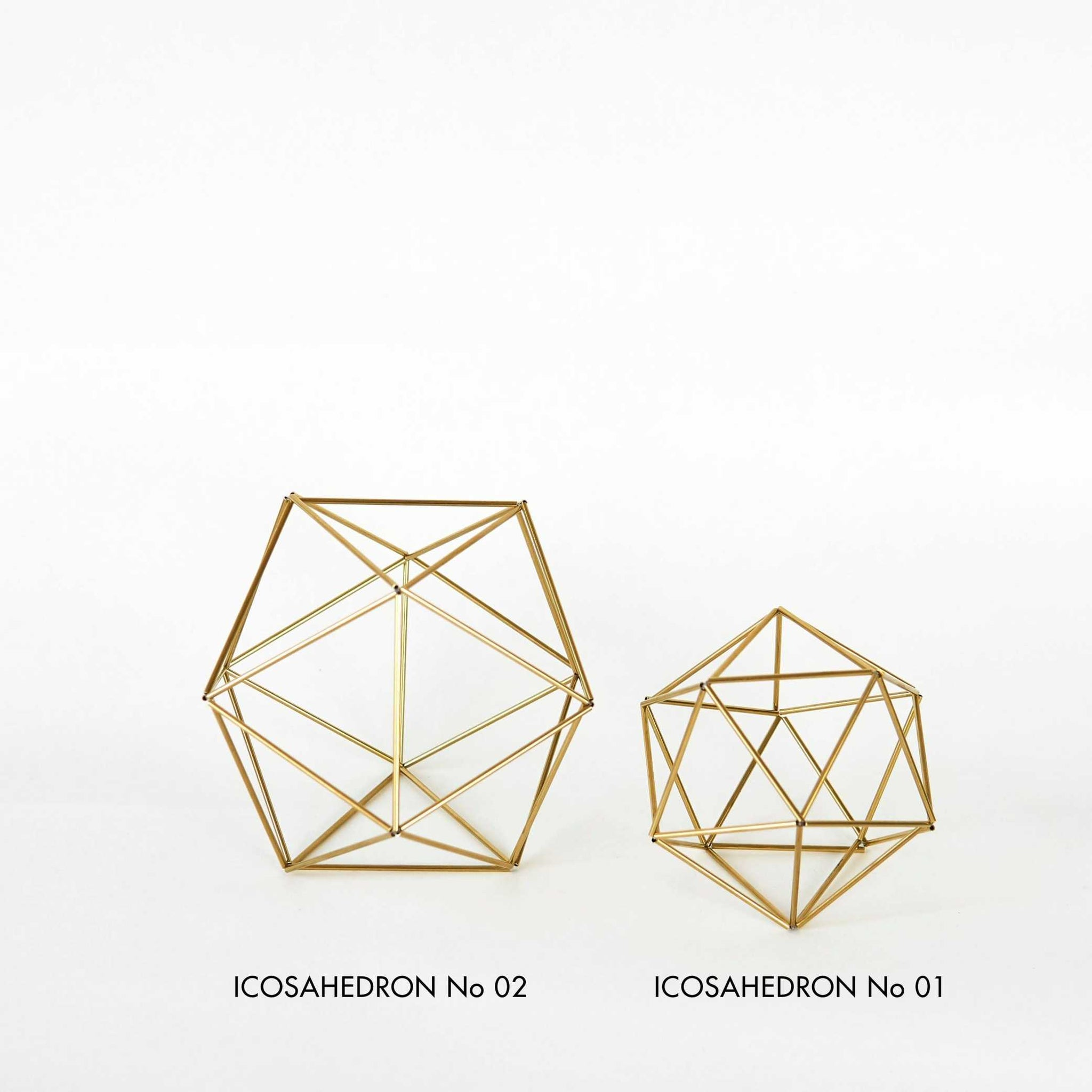 Gold Air Plant Holder - Icosahedron Himmeli Himmeli Fuxigold