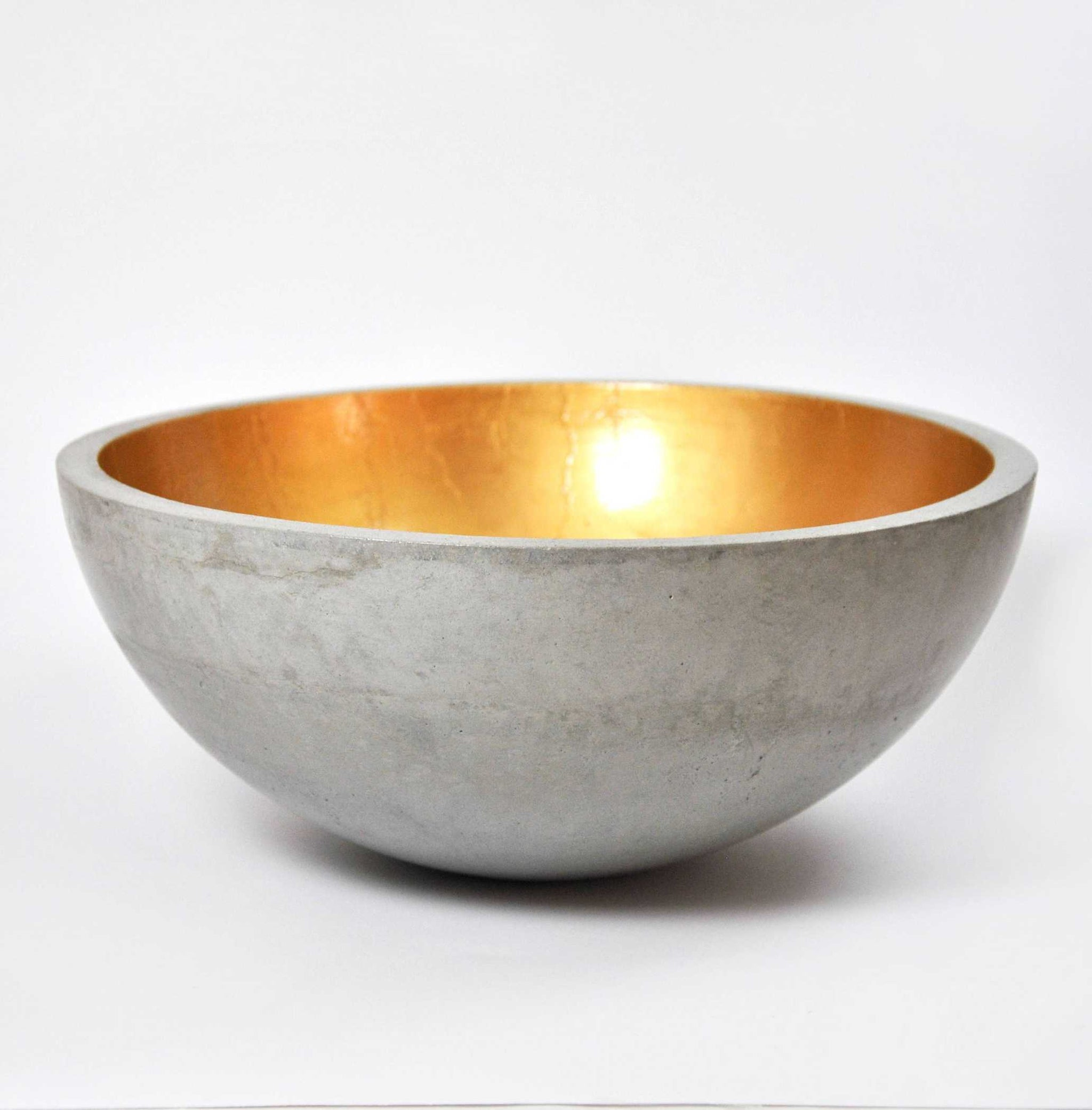 Golden Concrete Large Fruit Bowl Bowls Mica Rica