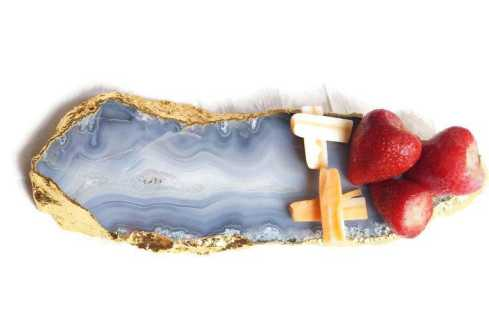 Grey Agate Cheese Platter Trays The Crushed Crystal