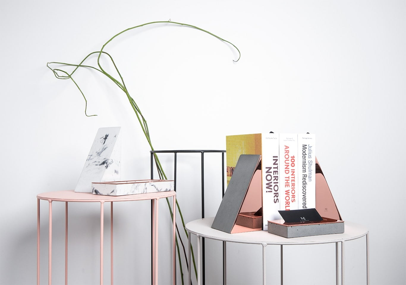 Concrete & Copper Bookends by Minshape (Set of 2 — MBH1.1)