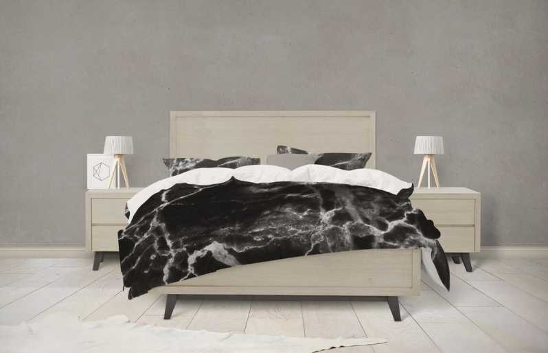 Black Marble Bedding