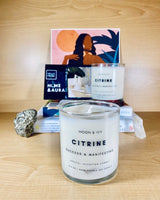 Citrine Crystal Soy Candle Citrus/Fresh (Success)