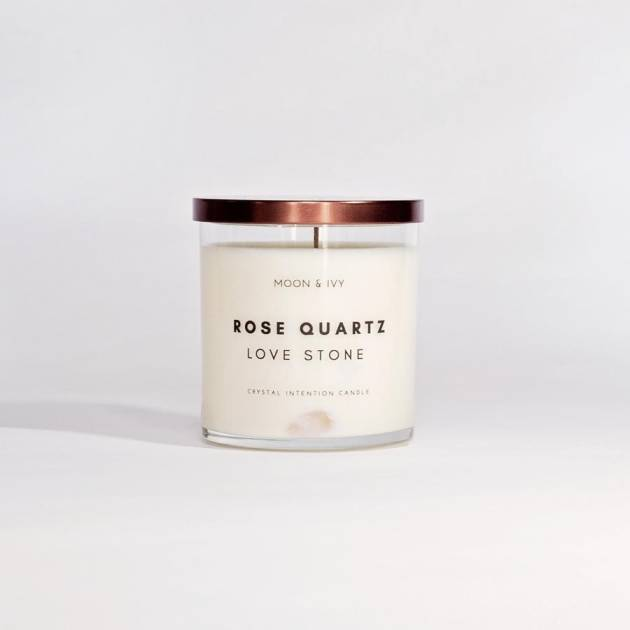 Rose Quartz Soy Candle | Sweet Floral (Love & Harmony)