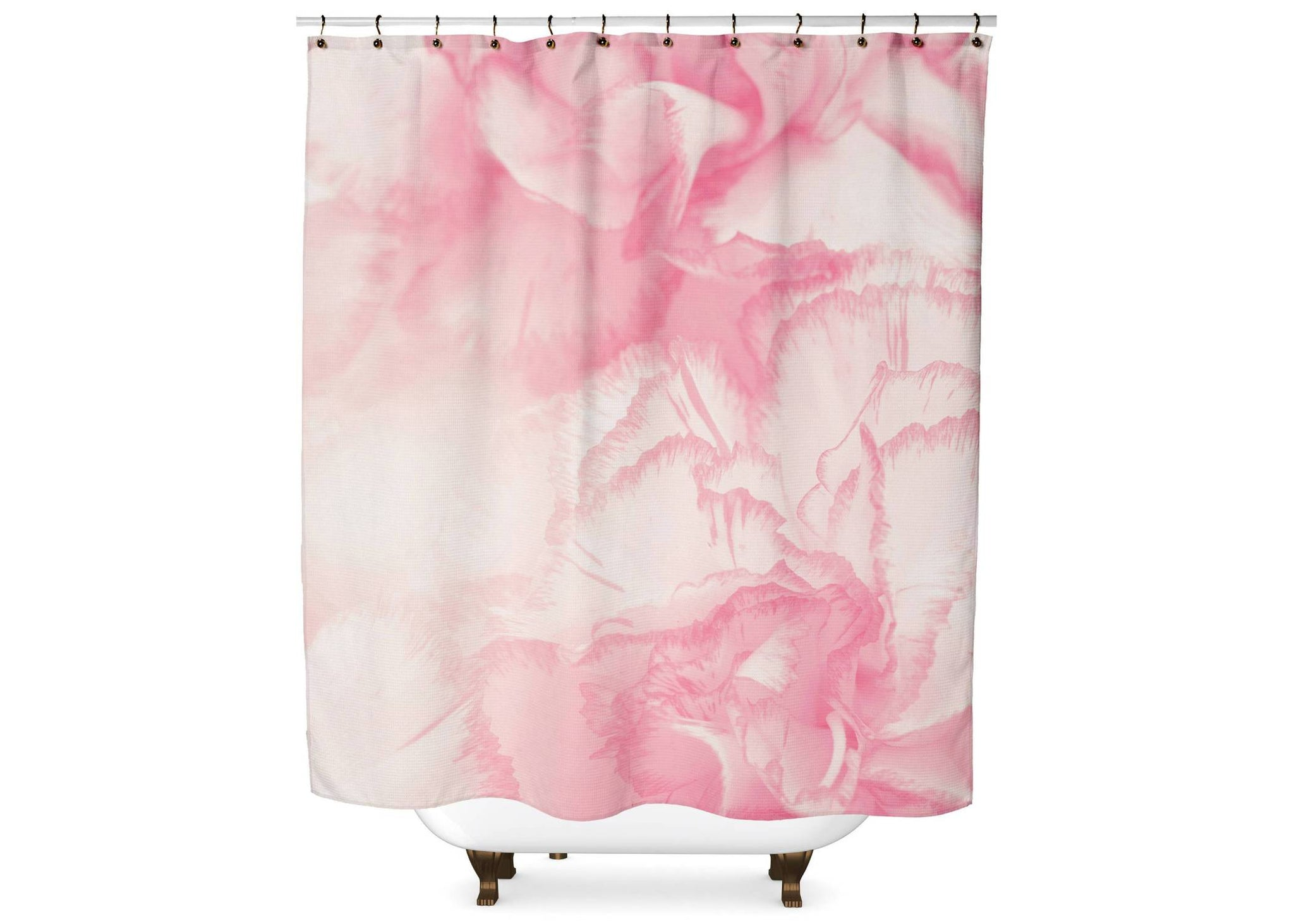 Pink Watercolor Flower Shower Curtain Shower Curtain Days End Designs