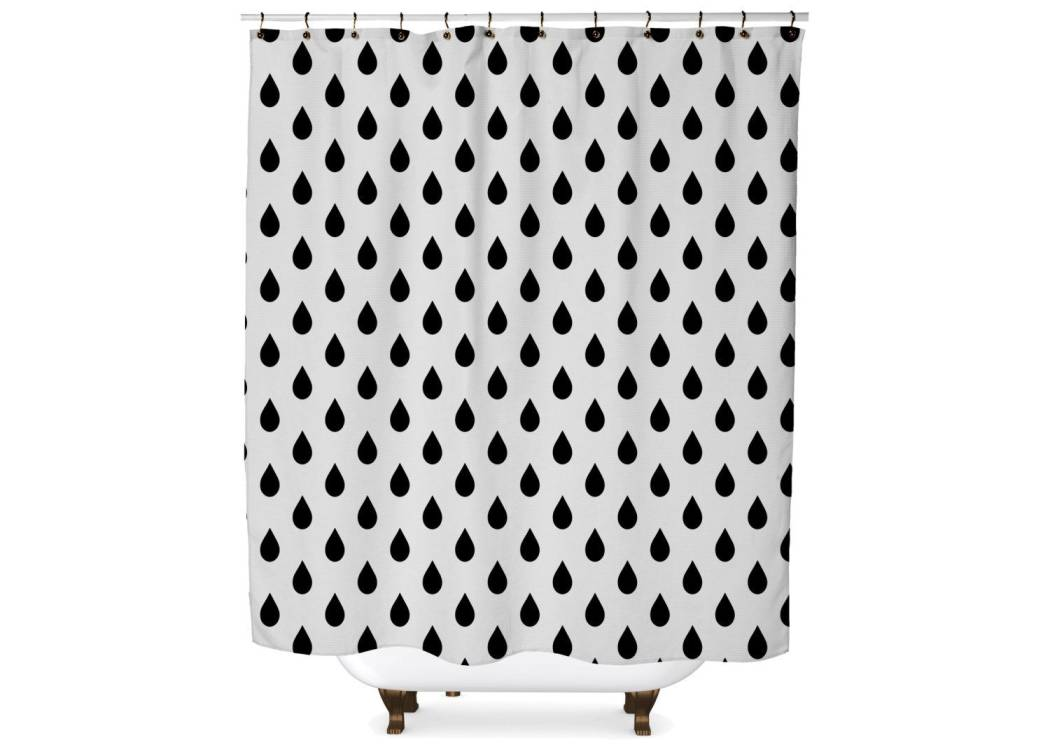 Rain Drop Shower Curtain Shower Curtain Days End Designs