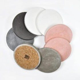 Round Concrete Coasters (set of 4) Coasters Mica Rica