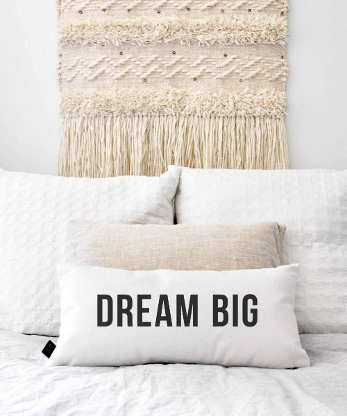 Dream Big Statement Throw Pillow by Swell Made Co.