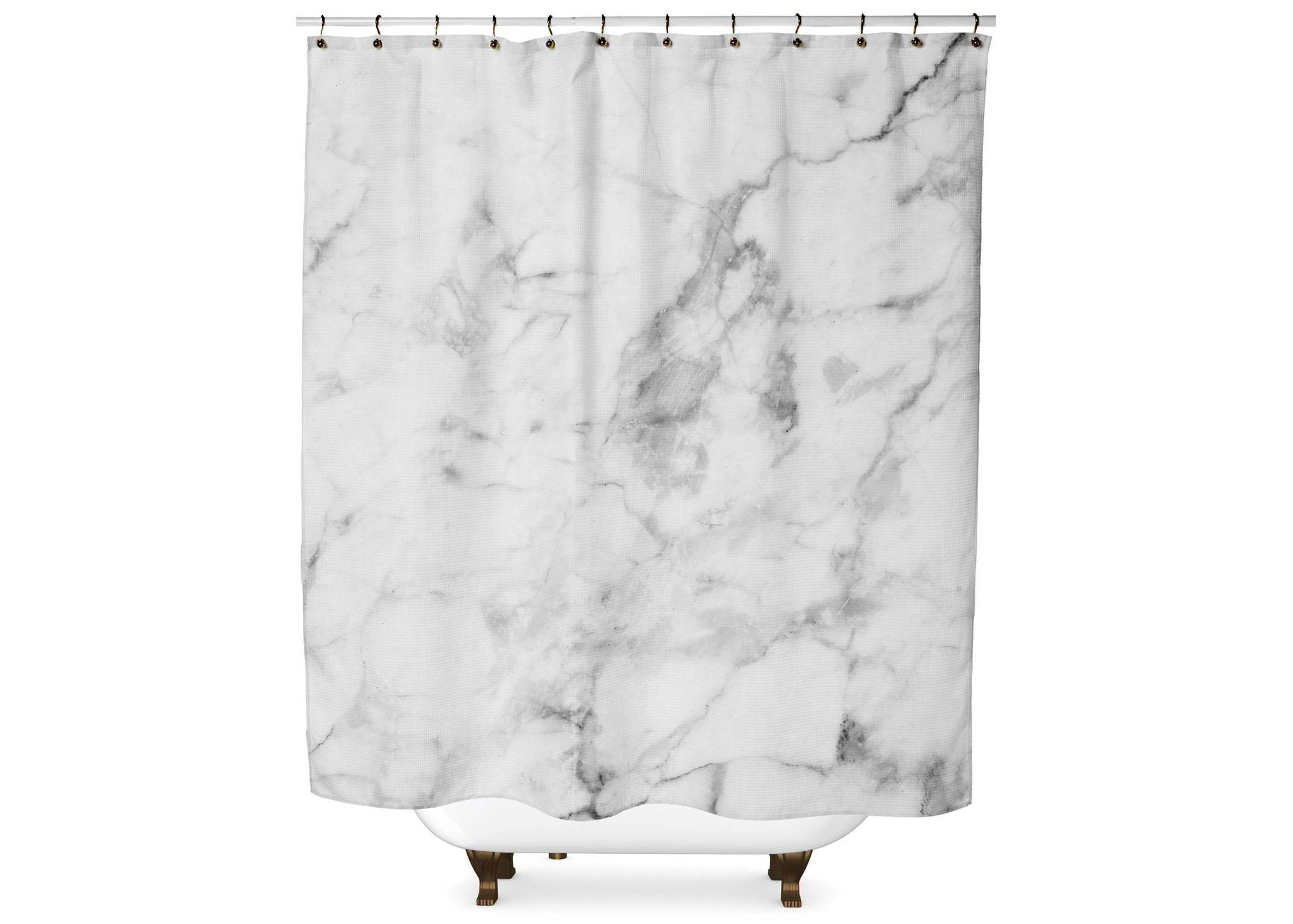 White Marble Shower Curtain Shower Curtain Days End Designs