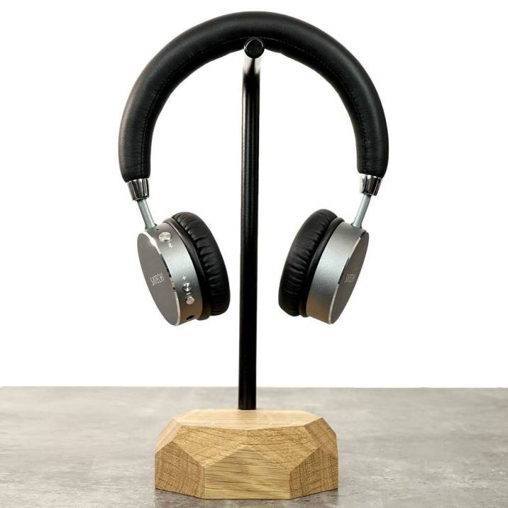 Wooden Headphone Stand Tech Dock Oakywood