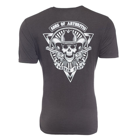 "Sons of Arthritis ""Packin Heat"" Biker Tri-Blend T-Shirt"