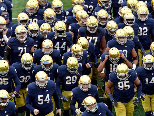 The Notre Dame Fighting Irish in South Bend in 2020