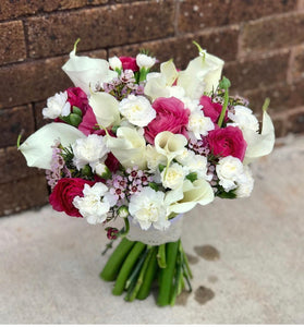 """Morning glory"" bridesmaid bouquet"