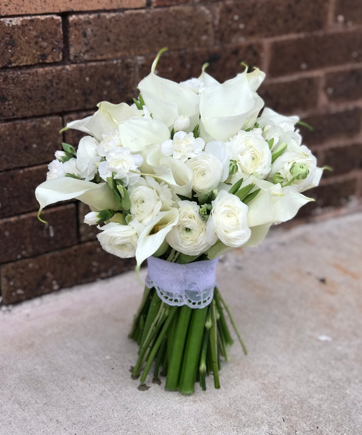 """Morning glory"" bridal bouquet"