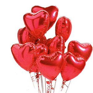 Red heart helium balloon
