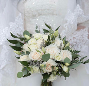 """Pure"" bridal bouquet"