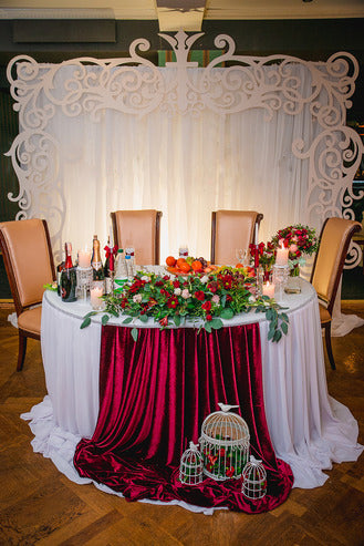 Simple elegance sweetheart table
