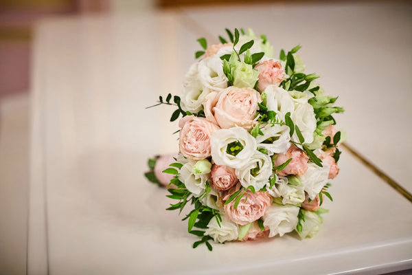 """Pink cloud"" bridal bouquet"