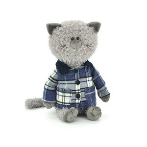 Soft toy Cat Buddy in jacket
