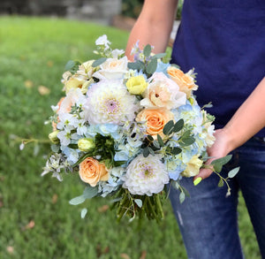 """Dahlias fantasy "" bridal bouquet"