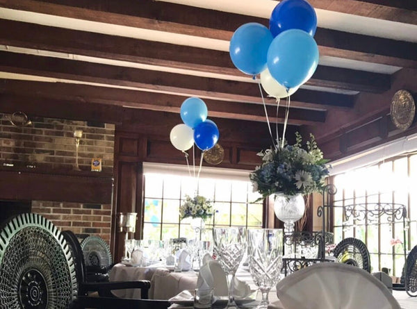 Flowers & balloons centerpiece