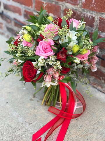 """Ruby"" bridal bouquet"