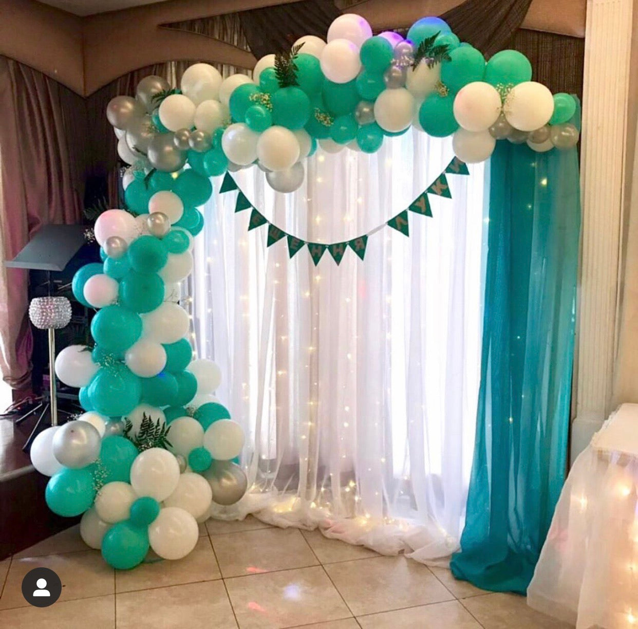 """Turquoise "" balloons decorations"