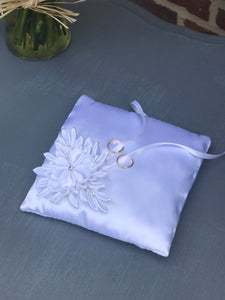 White Ring Bearer Pillow