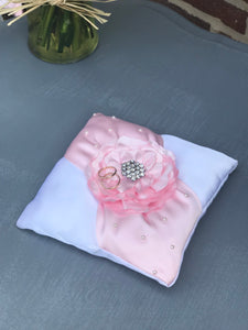 Blush Ring bearer pillow