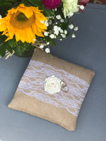 Rustic Ring Bearer Pillow