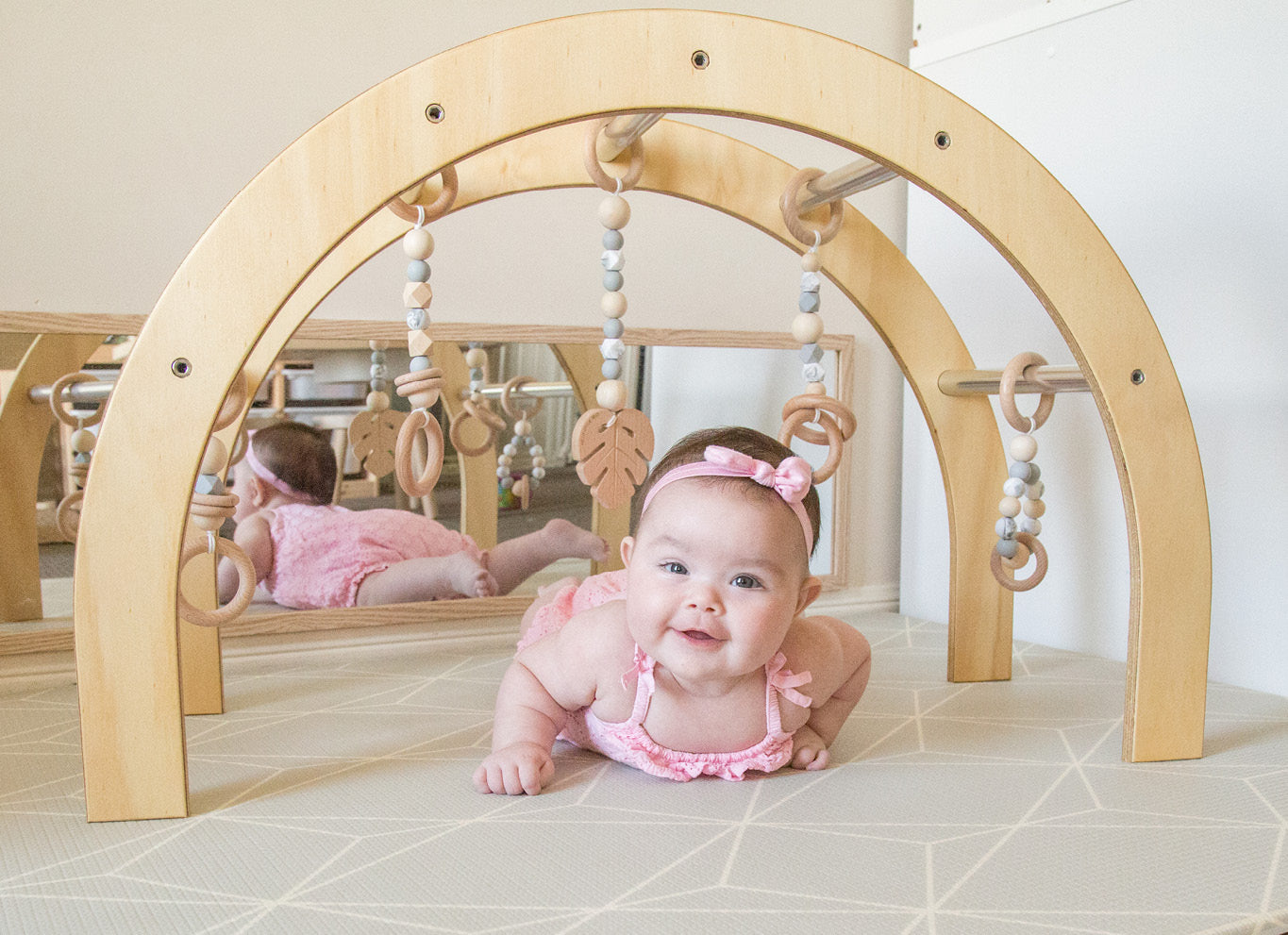 Baby play ideas wooden baby gym