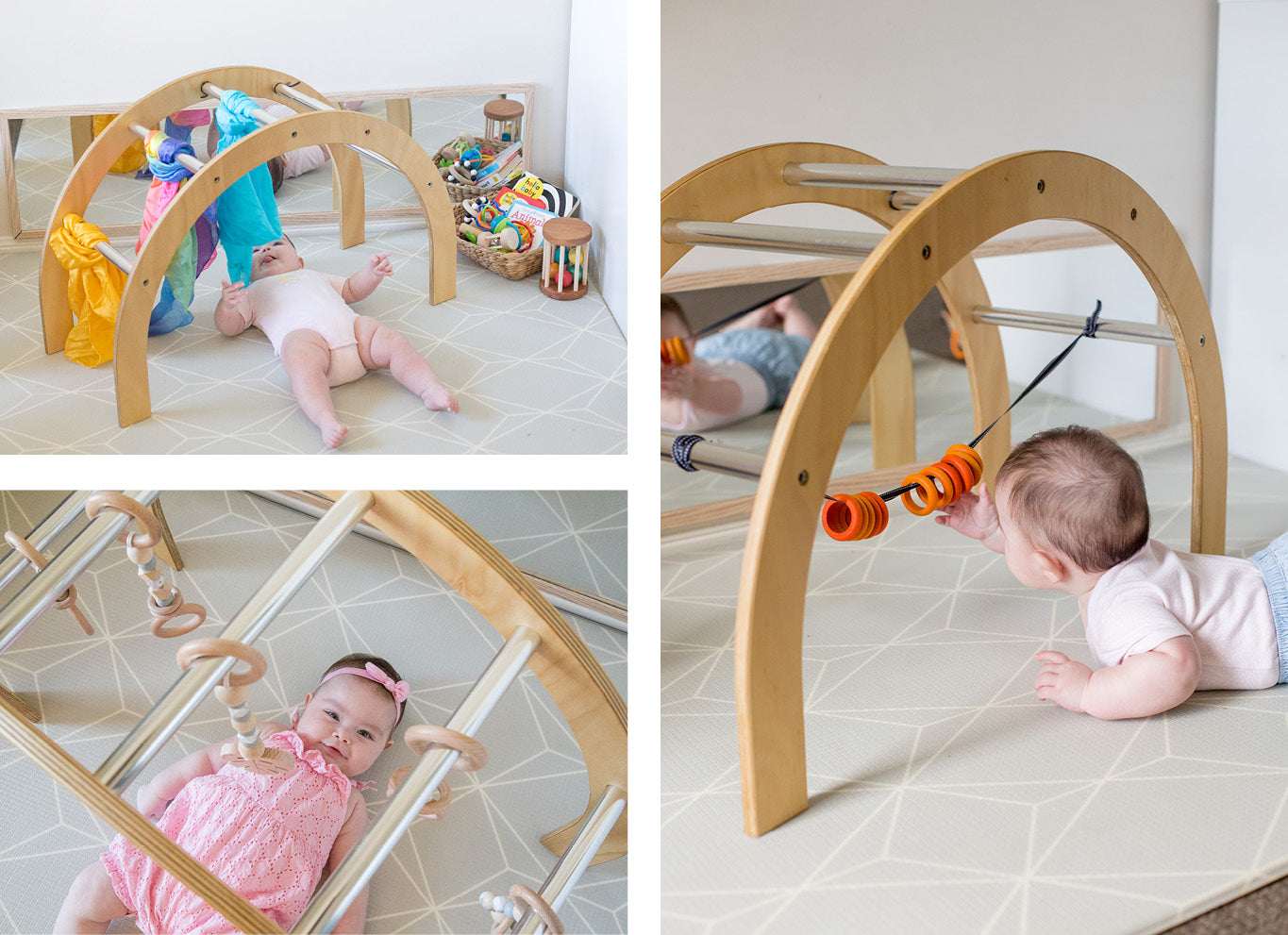 Wooden baby gym play ideas