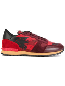 Valentino Camo Rockrunner Sneaker Red