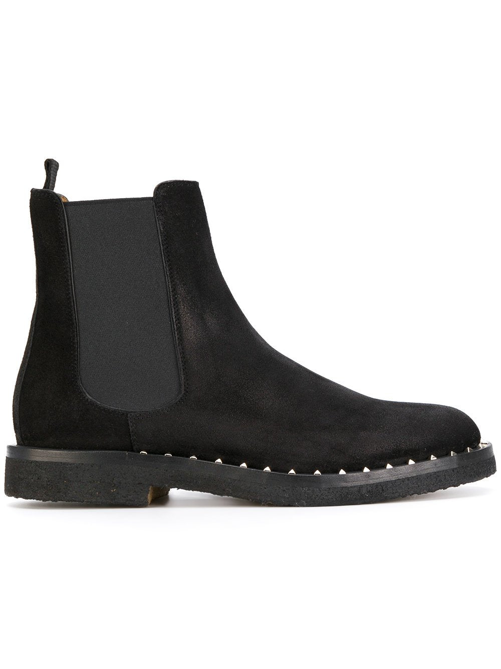 Valentino Studded Chelsea Boot Black