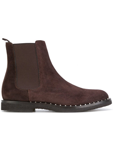 Valentino Studded Chelsea Boot Wine