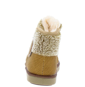 Faux Fur Lined Fleece Ankle Infant Boot