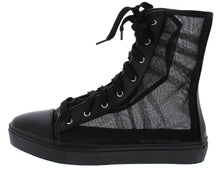 Load image into Gallery viewer, Black Tulle   High Top Boot