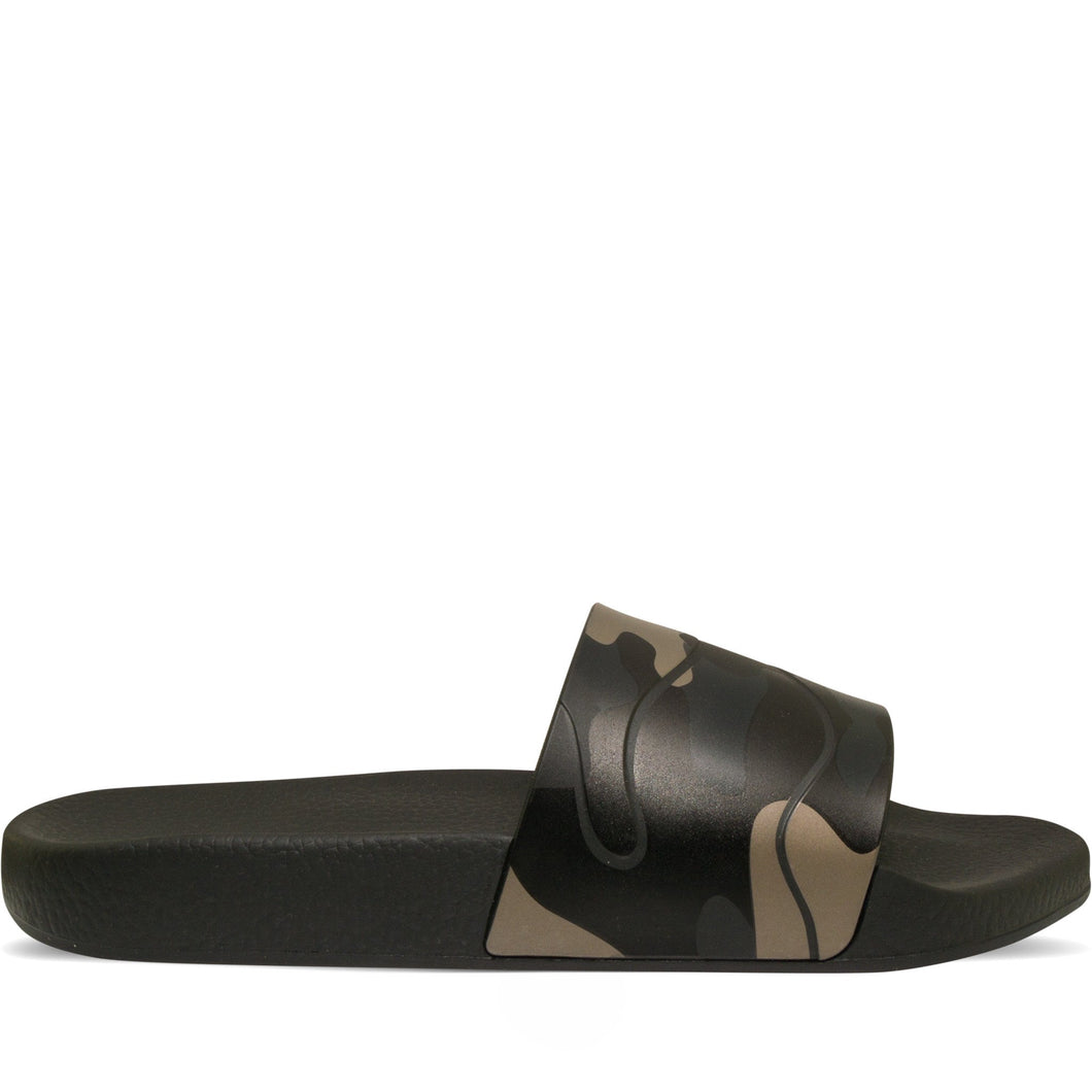 Valentino Camo Slide Black & Metallic