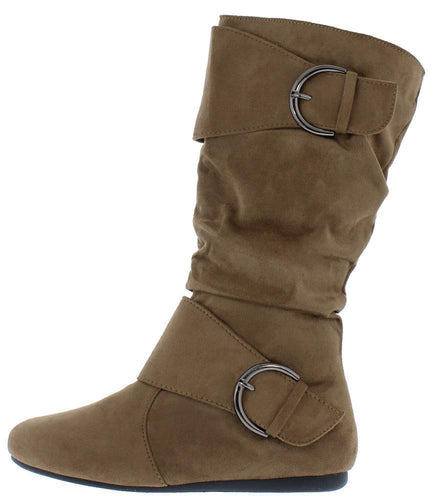 Almond Toe Dual Buckle Boot