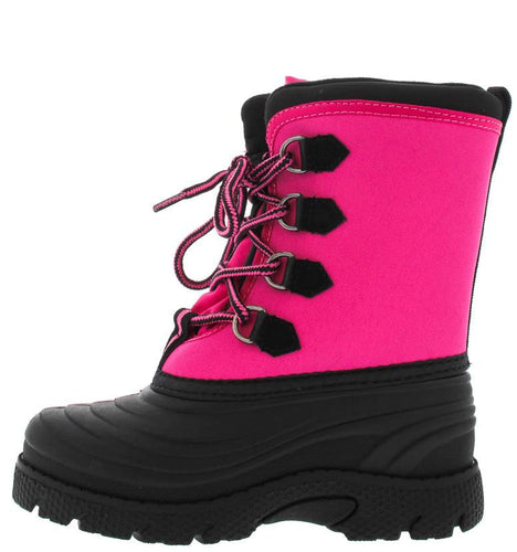 Black Fuchsia Kids Duck Rain Snow Boot