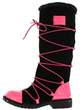 Load image into Gallery viewer, Fuchsia Pu Multi Wrap Fur Lined Boot