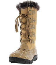 Load image into Gallery viewer, Nude Faux Fur Trim Snow Boot